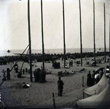 SCHEVENINGUE c. 1900 - Plage Hollande Pays Bas - 2 Négatifs 9x9 - FD 414
