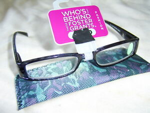 "Foster Grant ""Indigo""Ladies Fashion Reading Glasses RRP £10.50 From £4.99 Each.."