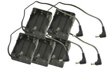 10 pk 6 AA Battery Holder for Projects or Storage with 3.5mm x 1.5 Tip 9V output
