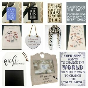 Dog Themed - Metal Danglers - Fridge Magnet - Plaques - Wooden signs - Notebooks