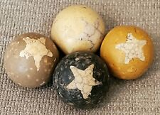 New listing Rare Star-Victorian Era (Late 1800's) Hand-Made Clay Marbles
