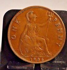 CIRCULATED 1936 1 PENNY UK COIN (110716)3