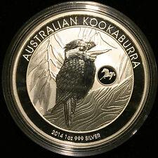 *2014 Australia 1 oz Silver 999 Kookaburra BU (Horse Privy Mark) Mintage 50k*