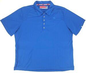 Novara Cycling S/S Polo Jersey Shirt Snap Front 2 Pocket Blue Mens XXL - EUC