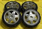 Tire Set 4PCS CHRM For Duratrax Firehammer Smartech Carson FG 1/5 Scale RC Buggy