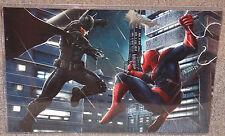Spider-Man vs Batman Glossy Art Print 11 x 17 In Hard Plastic Sleeve