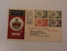 Australia souvenir cover 1953 coronation day flight via London Qantas