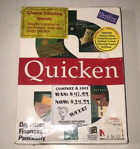 Intuit Quicken Original Version Microsoft Windows Compatible Brand New Vtg 1992