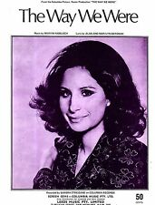 Sheet Musiic: THE WAY WE WERE (Barbra STREISAND, Gladys Knight & the Pips). VGC+