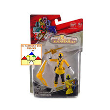 Power Rangers SUPER SAMURAI Yellow Ranger Terra 10cm con Armi by Bandai Nuovo