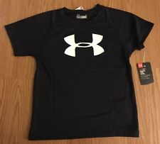 New Under Armour Kids 5 Black Short Sleeves Top Shirts