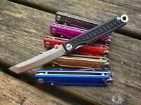 StatGear Pocket Samurai Aluminum Folding Knife - Keychain Keyring Higonokami EDC