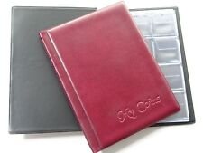 Collectors Coin Album for 96 Coins 50p Olympic,Beatrix,old 50p,£2 ,£1  Burgundy