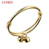 Baby Girl Boy Bangles Bracelet Gold Color Bells Pendant Children Jewelry Anklet