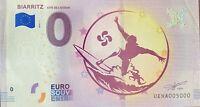 BILLET 0  EURO  BIARRITZ  FRANCE  2018 NUMERO 5000 DERNIER BILLET