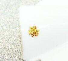 Ear Pin Diwali Gift Floral Nose Ring Indian Designer 22k Gold Plated Stud Nose