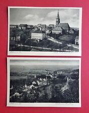2 x AK MOHORN in Sa. um 1930 Bahnhof, Schule, Kirche und Ortsansicht  ( 35001