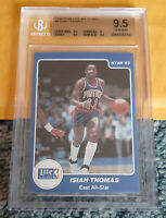 1985 STAR LITE ALL-STARS #6 ISIAH THOMAS XRC RC Rookie POP 4 BGS 9.5 ~ Pre 1986