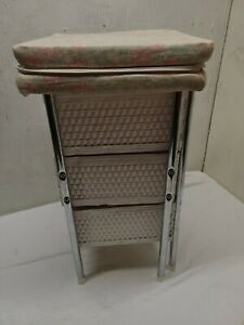 Vintage Wicker Doll Changing Table Padded Top Badger Basket Co