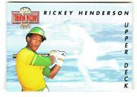 1993 Upper Deck THEN & NOW HOLOGRAM #TN3 RICKEY HENDERSON Oakland A's HOF