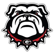 UGA New GEORGIA Bulldog Cornhole Decals / SET of 2