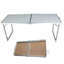 4Ft Folding Portable Camping Picnic Party Dining Table Aluminum White