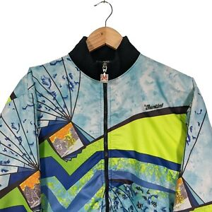 SMS Santini Cycling Jersey Fleeced Long Sleeve Multicolour Pattern - Size L