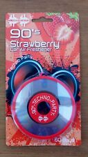 Car Air Freshener. Retro 90's CD. Disc. Strawberry Scent Hanging type 60 days