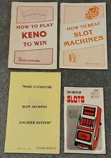 lot set 4 vintage casino gambling strategy booklets slot machines keno venture