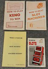 lot set 4 vintage casino gambling strategy booklets slot machines keno venture