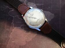 Hombre Vintage Trans Globe, Cabina,, Mecánico Reloj, pátina de edad Running -