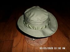 Military Vietnam Boonie Rip-Stop Jungle Hat With Net Od Green 1969 New Unissued