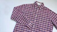 Charles Tyrwhitt Casual shirt men Long Sleeve top size M Medium red blue OXFORD