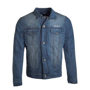 Bull-It Homme Tracker 17 SR6 Jeans Moto Veste Bleu Clair