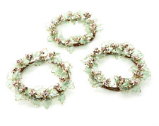 Set of 3 Holly Berry Decorative Candle Rings by Valerie Metallic