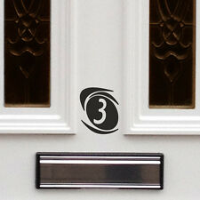 2 X HOUSE NUMBER STICKER / DOOR NUMBER STICKER / HOUSE OFFICE SIGN DOOR NUMBER F