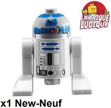 Lego - Figürchen Minifig Star Wars R2D2 R2 D2 Light Bluish Gray Kopf sw0217 Neu
