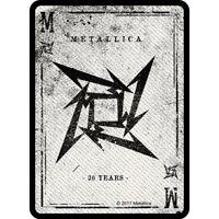 METALLICA - Patch Aufnäher - Dealer  Card 6x10cm