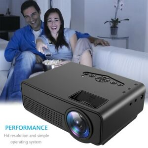 Led Projector Hd 1080p Black Us Screen Scale Connection Computer Multimedia Sd