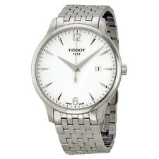 Tissot Tradition Silver Dial Stainless Steel Mens Watch T0636101103700-AU