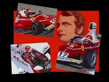 Canvas Niki Lauda 3 times World Champion by Toon Nagtegaal (OE) black