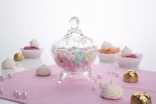 Clear | Transparent Round Bonbon Candy Jar & Lid 13 cm high Florence