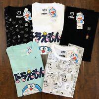 NWT DORAEMON x UNIQLO Crew Neck Short Sleeves Tee Graphic T-Shirt S M L XL