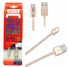 New Hoco Textile Lightning Data Cable Upl05 For iPhone 6 Plus 6 5s 5 - Copper