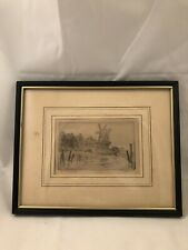 """Vintage Pencil Signed  Etching """"In Holland"""". Signature Illegible."""