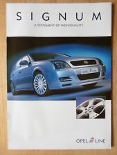IRMSCHER OPEL Signum 2003 UK Mkt brochure - Vauxhall related