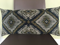 Decorative Pillow Cover Luxuries Fabric Navy Blue Olive Green Gray Jacquard