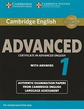 Cambridge English ADVANCED (CAE) 1 with Answers for Exam from 2015 Book Only NEW