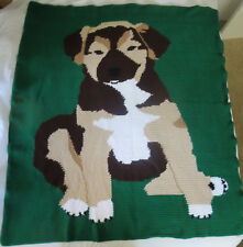HANDMADE Crochet AFGHAN Knit THROW Pet PUPPY DOG Quilt COUCH Lap KID Bed BLANKET