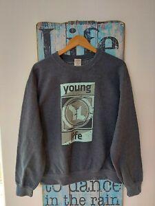 Vintage Retro Young Life Sweater Sweatshirt Size M Logo